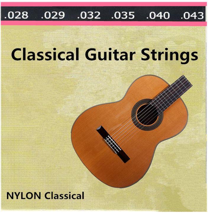 Бесплатная доставка 1 компл. ( 028 - 043 ) ясно нейлоновые струны для классической акустическая гитара аксессуары для музыкальных инструментов
