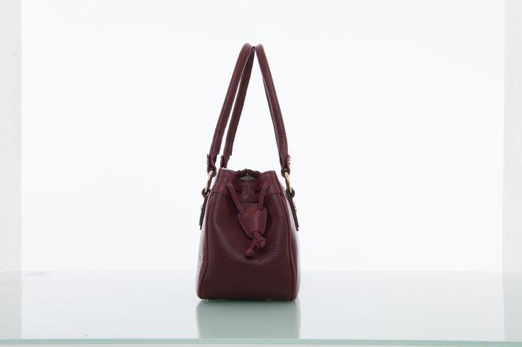 Cathy Prendergast Irish Designer Burgundy Leather Handbags - Banba Tote Bag | Cathy Prendergast