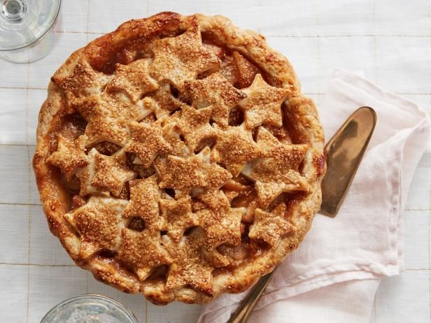 Get Bourbon-Pear Star Pie Recipe from Food Network
