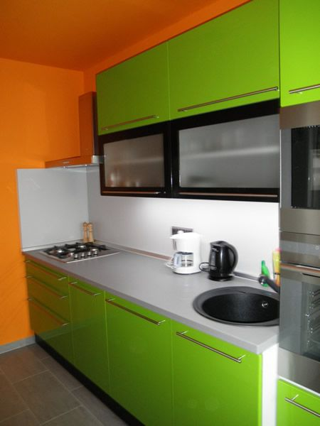 Kuchyňa zelená lesklá - BMV Kuchyne