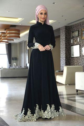 Hijab style - abaya ( modavina.com )                                                                                                                                                                                 More
