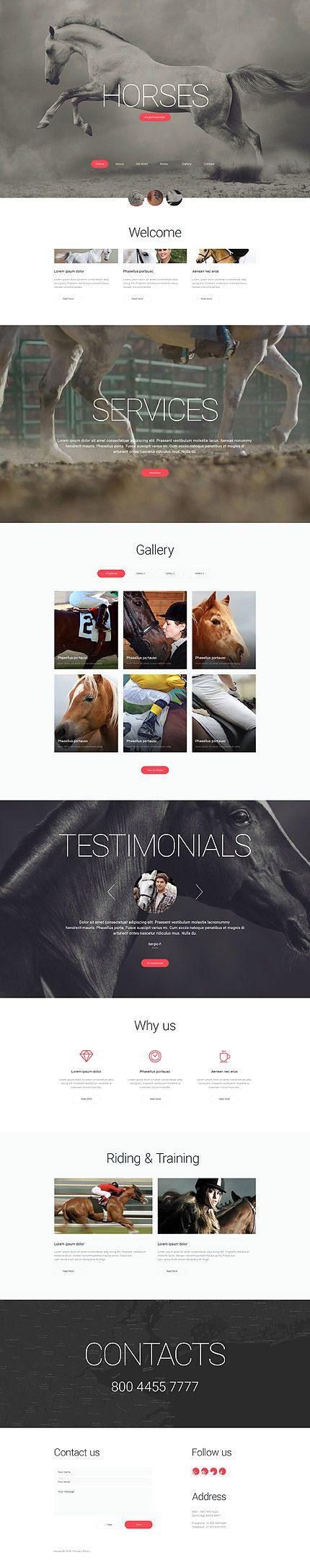 Equestrian Farm #website #template. #themes #business #responsive #websitethemes