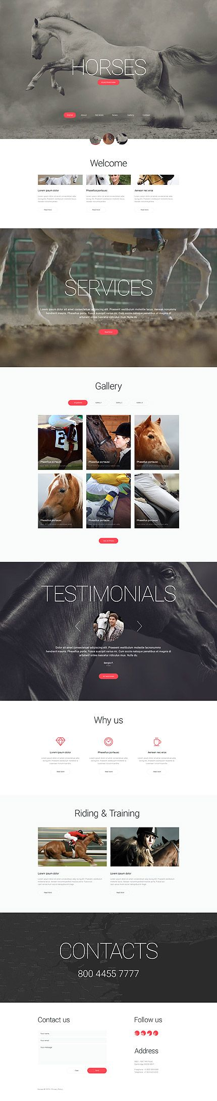 Equestrian Farm #website #template. #themes #business #responsive #websitethemes