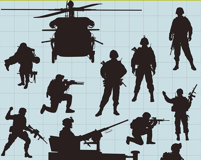 Soldados de soldados siluetas Imágenes Prediseñadas, imágenes prediseñadas militar ejército soldados Imágenes Prediseñadas, soldados SVG, siluetas de negro, para imprimir, descarga inmediata