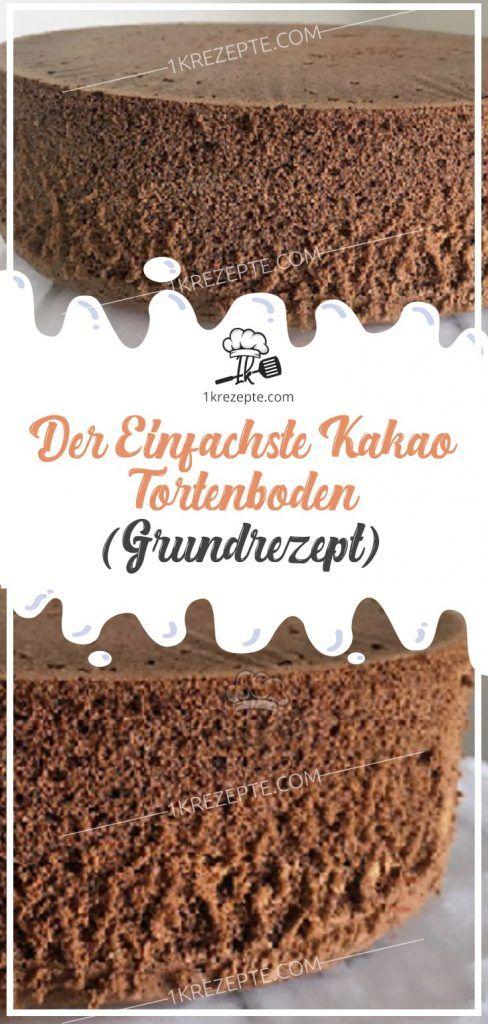 Der einfachste Kakao Tortenboden (Grundrezept)