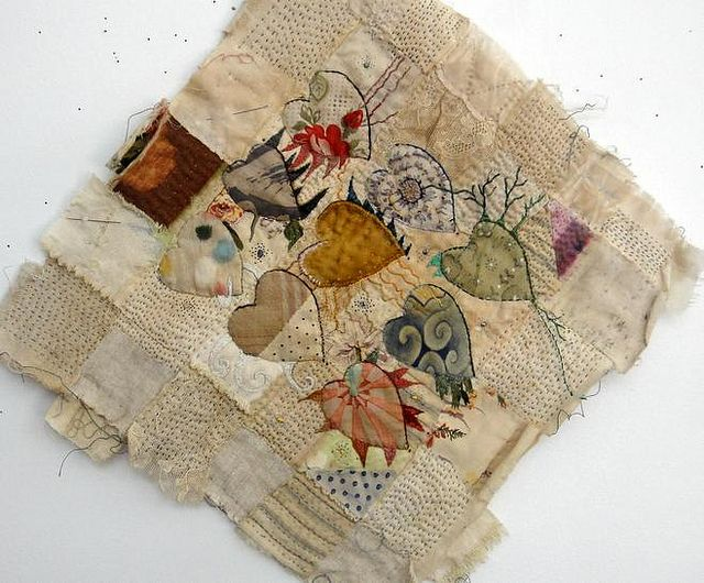<3 jude hill's work for the longest time. She makes so much sense with her pieces of cloth and zillions of stitches. x