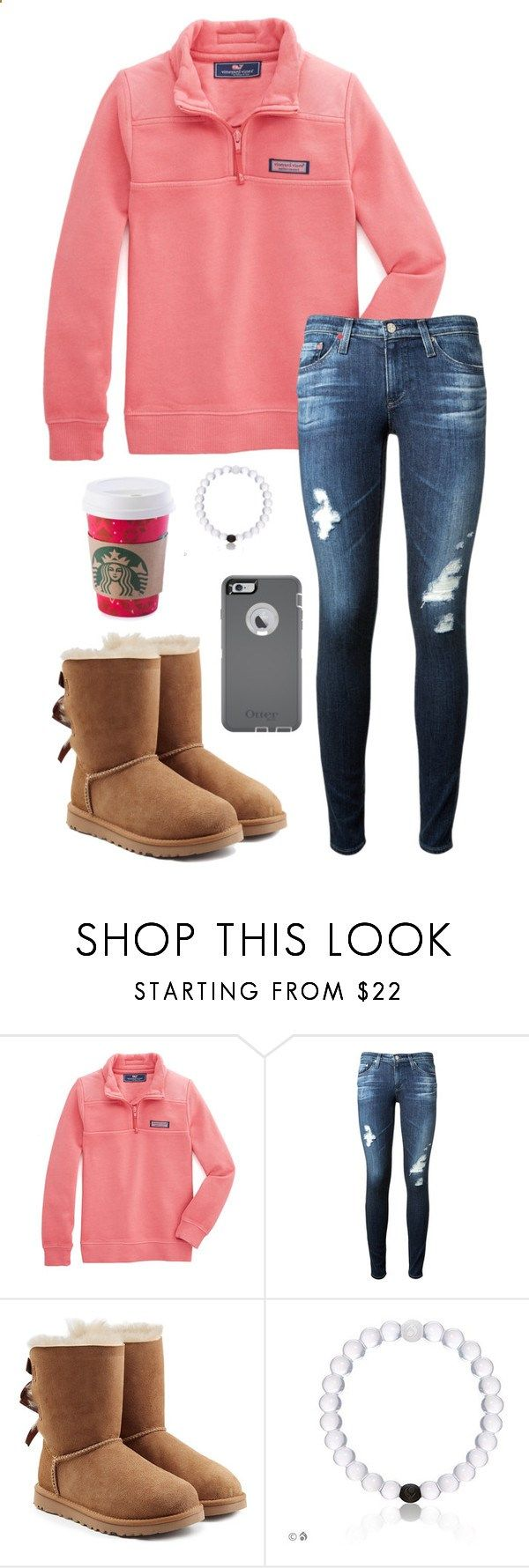 Youre insecure, dont know what for by toonceyb ❤ liked on Polyvore featuring Vineyard Vines, AG Adriano Goldschmied, UGG Australia and OtterBox