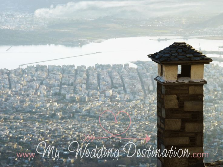 The view of Volos from Pelion  Facebook : myweddingdestination