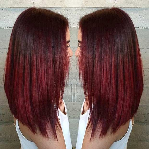 71 Cool And Trendy Medium Length Hairstyles Red Hair Color