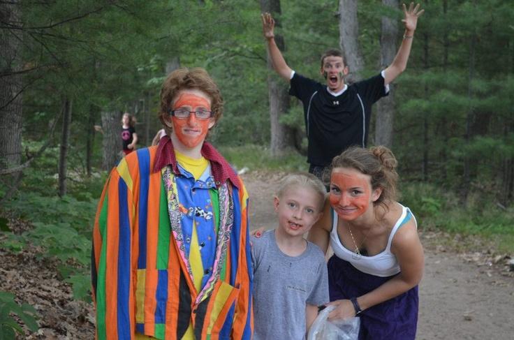 Dressing up and having fun at Camp Kitchi