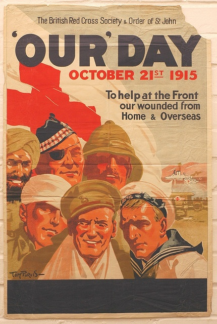 Our Day appeal poster by British Red Cross., via Flickr