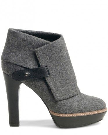 Charcoal, fall bootie.