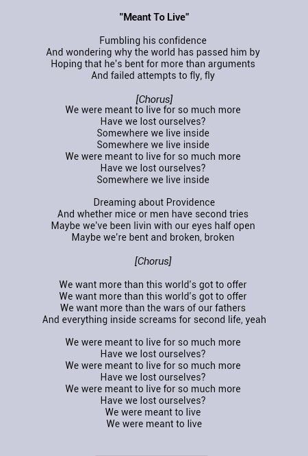 Meant to live by Switchfoot  Lyrics  Love songs lyrics