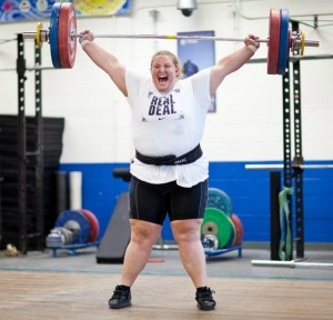 She is a badass!!! Olympic Weightlifter Holley Mangold