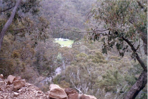 A view from the track of our campsite at Talbotville, in the high country of Victoria, Australia