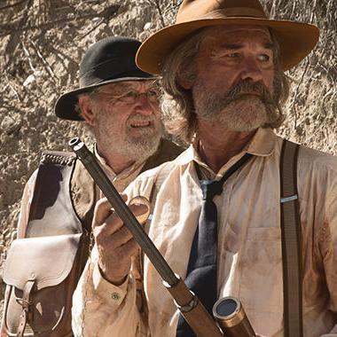 Kurt Russell and Richard Jenkins as Sheriff Hunt and Chicory in Bone Tomahawk