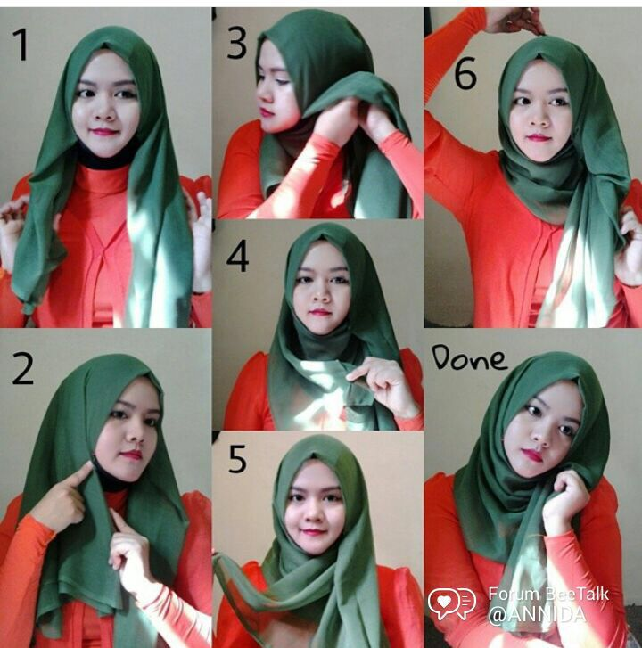 Simple hijab tutorial #squarehijab #hijab