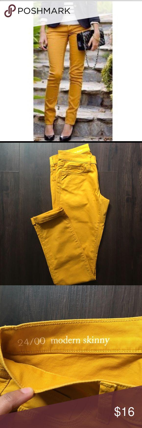 🎉HOST PICK!🎉 NEW Loft Modern Skinny Jeans Mustard yellow skinny jeans, never worn! LOFT Jeans Skinny