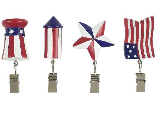 American flag tablecloth weights