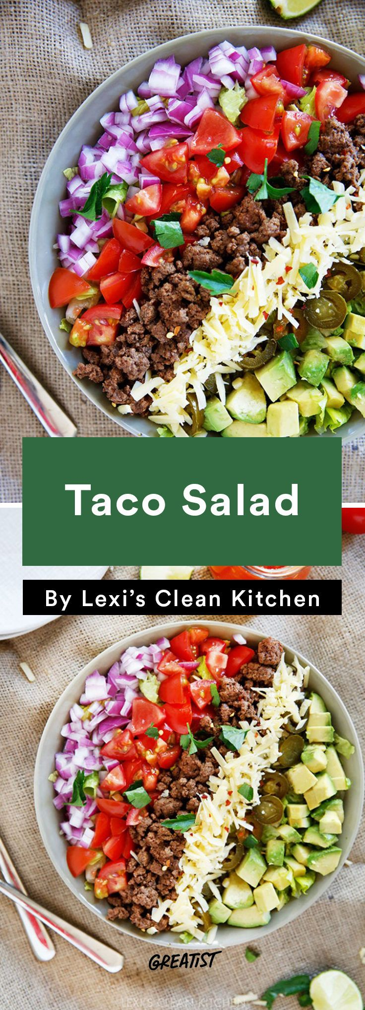 3. Taco Salad #greatist http://greatist.com/eat/easy-meals-to-freeze-for-later