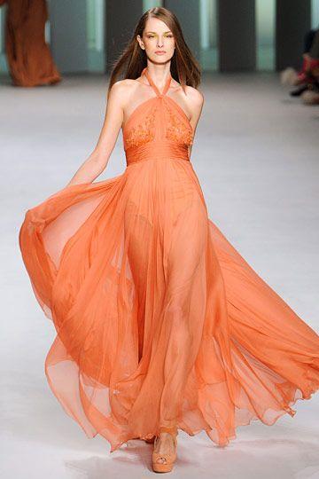 #Elie Saab...love this designer!  orange dresses  #2dayslook # new style fashion #Orangefashion  www.2dayslook.com