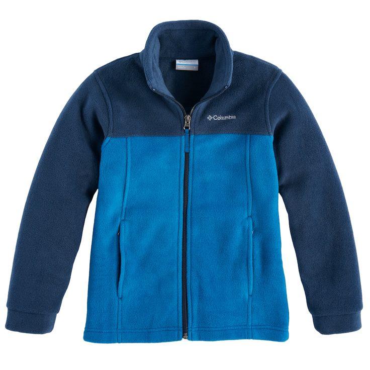 Boys 8-20 Columbia Fleece Flattop Ridge Jacket, Size: Medium, Blue Other