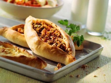 Rezept: Türkische Hackfleisch-Fladen (Pide)