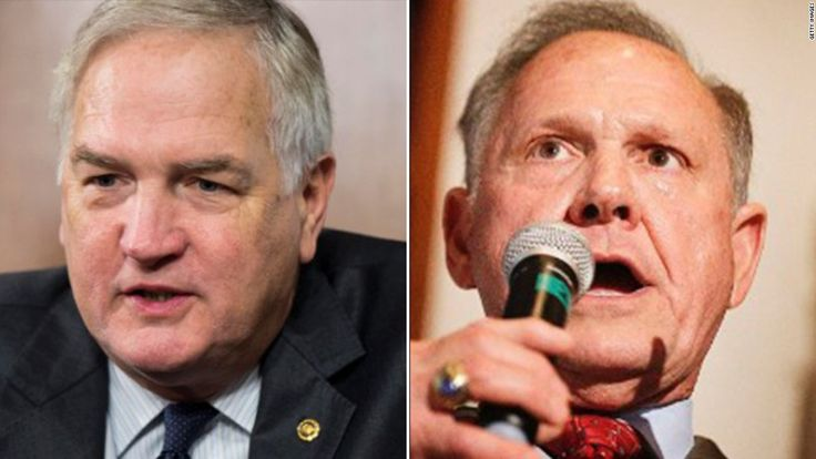 Roy Moore, the bombastic evangelical Christian who was twice ousted as Alabama's chief justice, has beaten Sen. Luther Strange in a Republican primary, CNN...