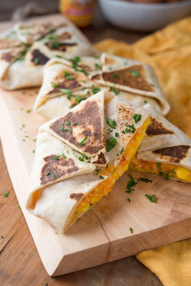 Crunch Wrap like breakfast quesadilla