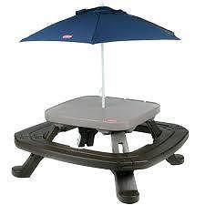 LITTLE TIKES - FOLD 'N' STORE TABLE WITH UMBRELLA - Folds for storage