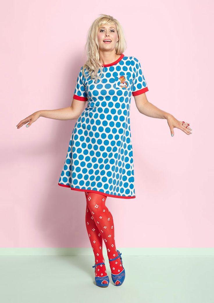 Margot kjole Denice Drippledot no 774 / dress Margot MWM wear forårs nyheder 2017