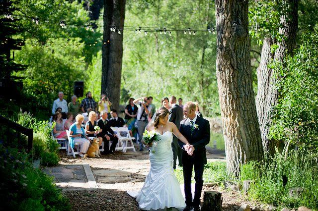 Boulder wedding heidi wayne are married along the boulder creek