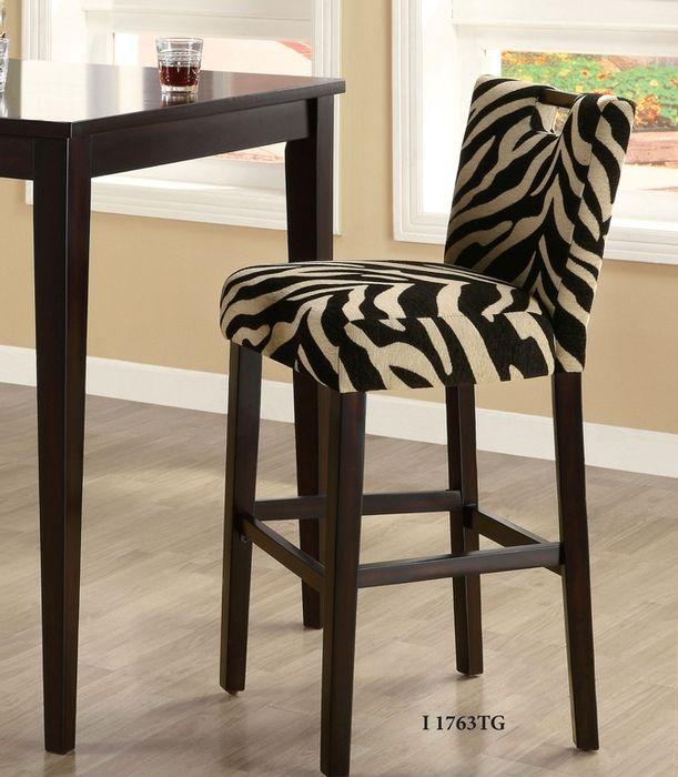 Unique Zebra Print Bar Stools