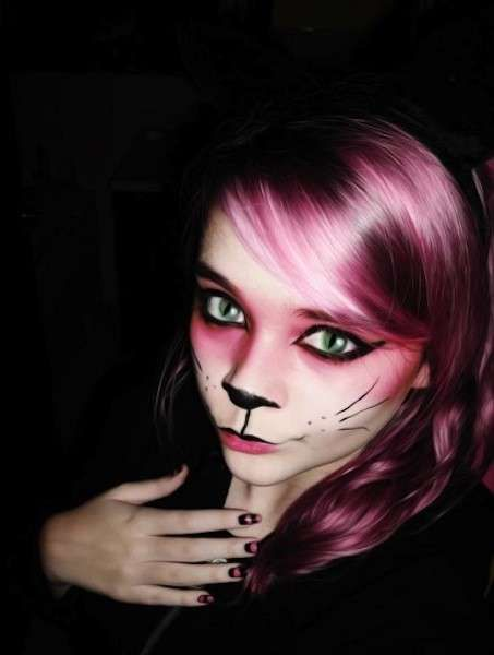 Trucco di Carnevale da gatta - Gatto rosa per Carnevale