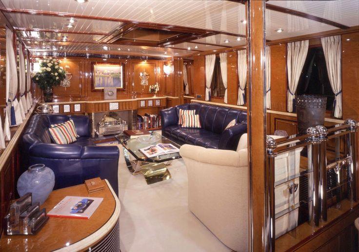 Vintage Yacht Interiors Megayacht Global Tom Perkins