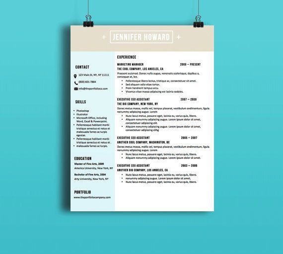 Resume Template And Cover Letter (  Modern Resume Styles