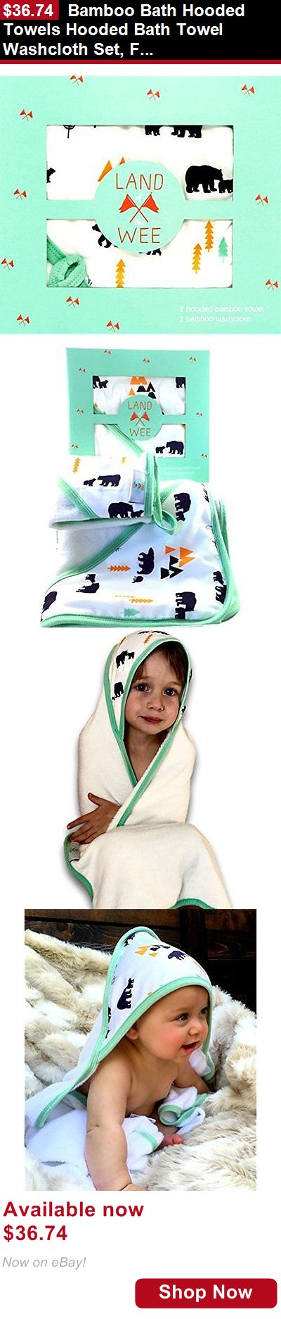 Baby Towels And Washcloths: Bamboo Bath Hooded Towels Hooded Bath Towel Washcloth Set, For Baby To Toddler BUY IT NOW ONLY: $36.74