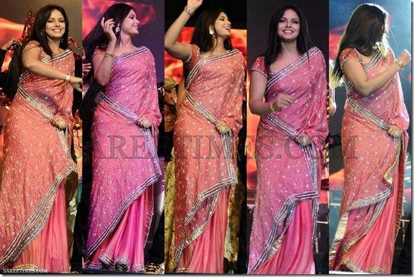 Neetu_Chandra_Pink_Saree