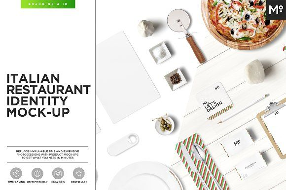 Italian Restaurant Identity Mock-up @creativework247