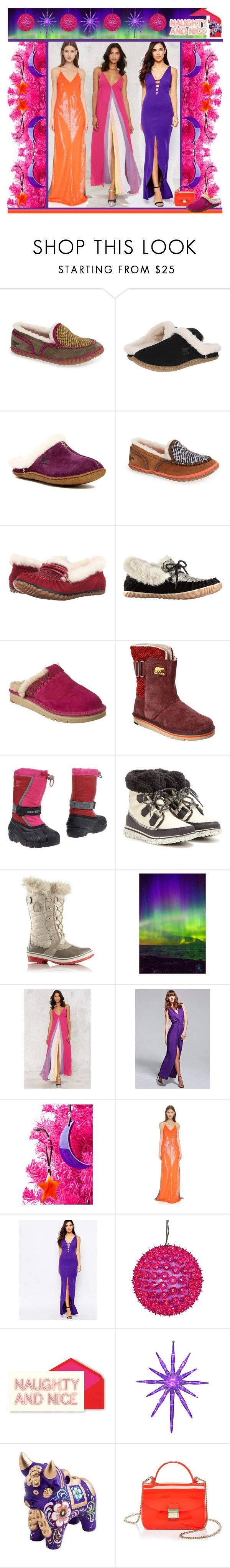 """Tame Winter with SOREL"" by yours-styling-best-friend ❤ liked on Polyvore featuring SOREL, Garcia, Nasty Gal, HotSquash, SoulMakes, KaufmanFranco, Jessica Wright, Kate Spade, NOVICA and Furla"