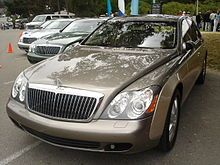 Several Maybach 57 and 62 models at the 2005 Concours d'Elegance in Pebble Beach, CA.    -----   The base price of a 2009 Maybach 57 is USD 344,000; the Maybach 57 S, USD 381,000; the Maybach 62, USD 394,000; the Maybach 62 S,  USD 430,000, and the Maybach Landaulet semi convertible costs just over 1 million. The Maybach 57 Zeppelin is priced at €406,000 (USD580,000) and the 62 Zeppelin at €473,200 (USD677,000).[7]