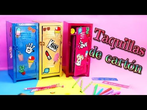 Ideas DIY para decorar tu cuarto: Organizadores - Casilleros de cartón - Isa ❤️ - YouTube