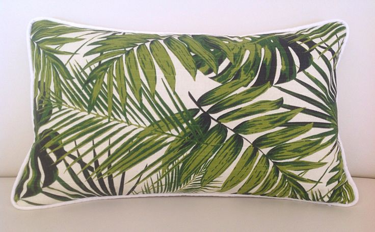 Lumbar Pillow Palm Leaf Pillows Tropical Pillows, Tropical Cushion Cover, Natural, Turquoise Cushions, Scatter Cushion, Blue & Green Pillows by MyBeachsideStyle on Etsy https://www.etsy.com/au/listing/239997541/lumbar-pillow-palm-leaf-pillows-tropical