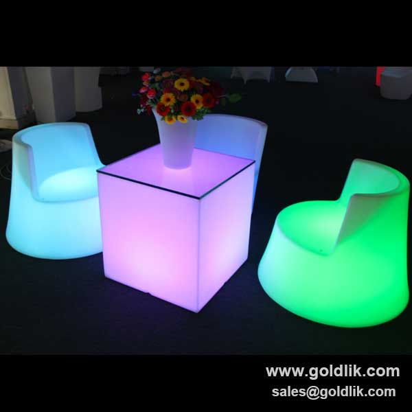 Nice Lighted Acrylic LED Cube,LED Furniture LED Table LED Chairs,Bar And Pub  Furniture