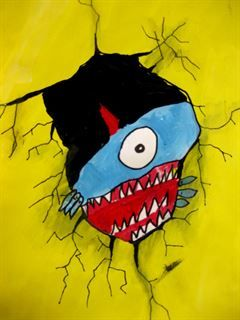 Check out student artwork posted to Artsonia from the Creepy Crack project gallery at Leeds Public School.