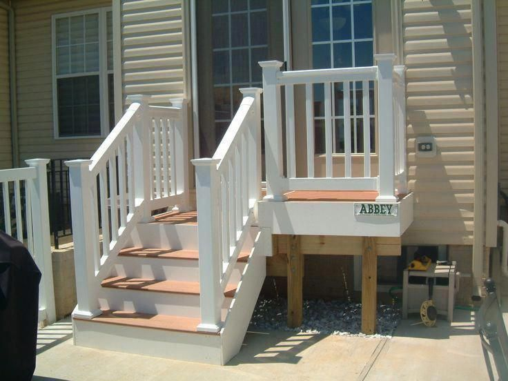 Back Door Steps Ideas Ok So You Need More Than A Landing With A