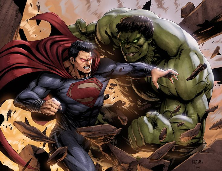 Superman vs Hulk by SamDelaTorre.deviantart.com on @DeviantArt