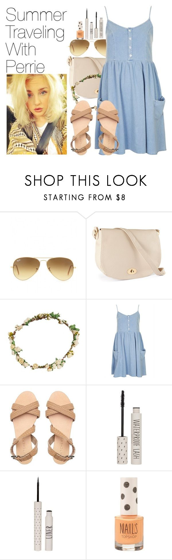"""""""Summer Traveling With Perrie"""" by onedirectionimagineoutfits99 ❤ liked on Polyvore featuring Ray-Ban, H&M, Bundle MacLaren Millinery, Topshop and mix-style"""