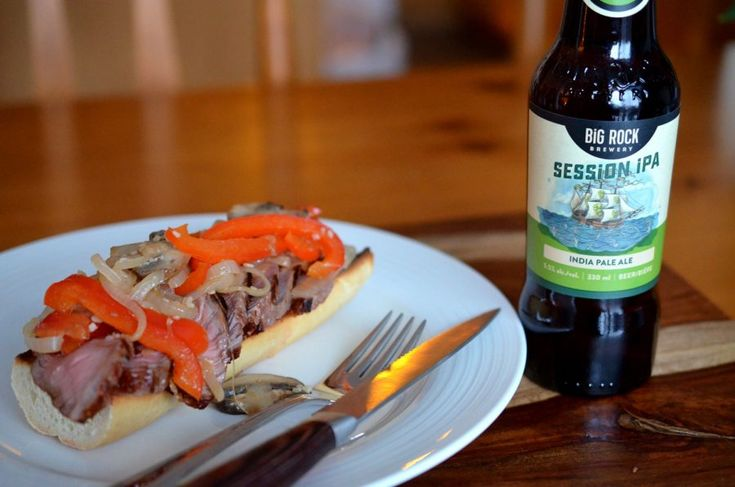 [ Steak Sandwich Recipe ] Do you love getting a great steak sandwich with a beer at the pub? Well now you can make it at home too! It's not as hard as you would think :) #steak #lunch