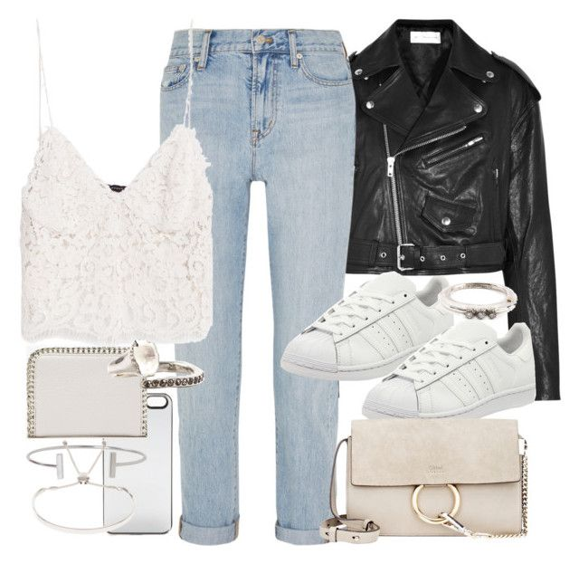 """Untitled #11158"" by minimalmanhattan on Polyvore featuring Zero Gravity, Forever 21, Faith Connexion, Madewell, adidas, Zara, Chloé, Rosa Maria, Humble Chic and Monica Vinader"